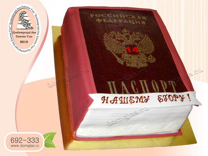 торт тематический мальчику паспорт 14 лет