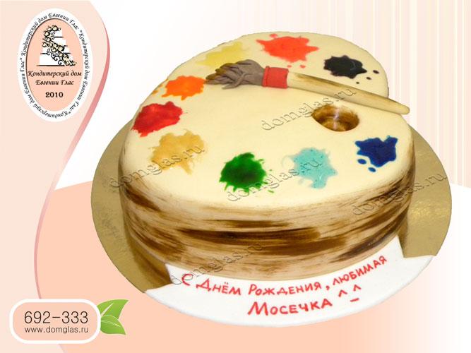 торт тематический палитра красок