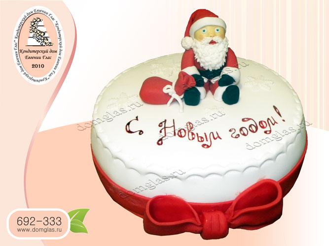 торт тематический с новым годом дед мороз