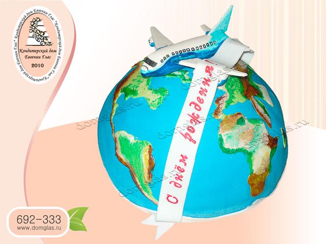 торт тематический путешествие самолет