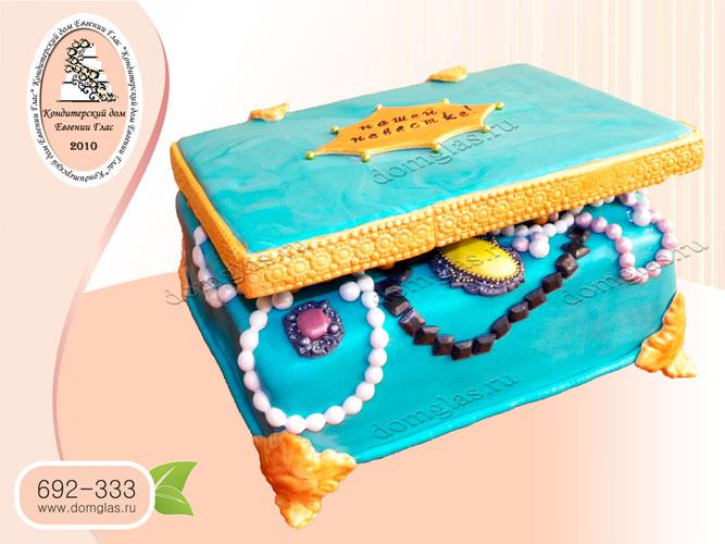 торт тематический шкатулка с драгоценностями
