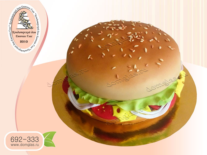 торт тематический гамбургер