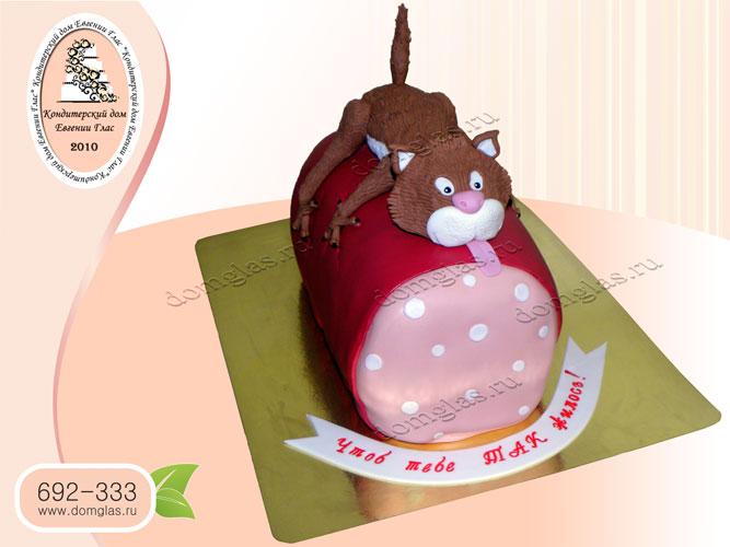 торт тематический кот на колбасе