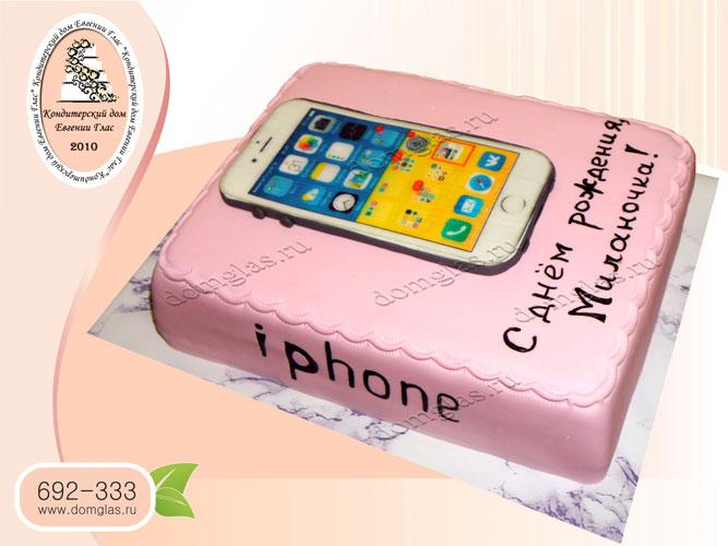 торт тематический айфон
