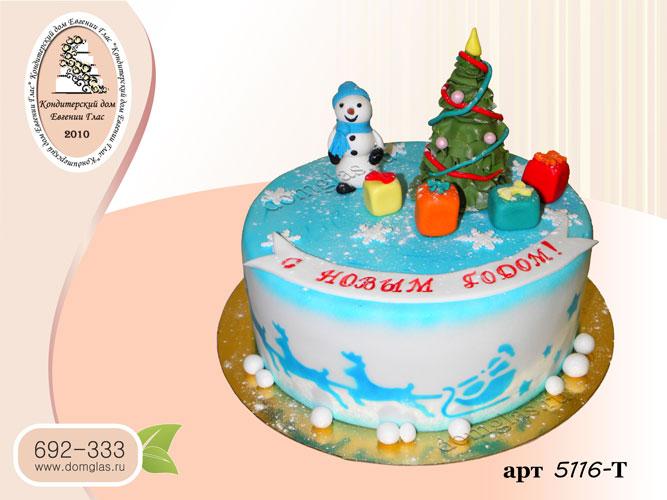 т торт новогодний елка снеговик подарки