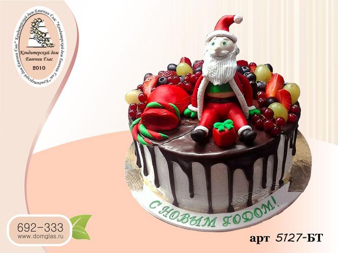 тб торт новогодний ягоды дед мороз