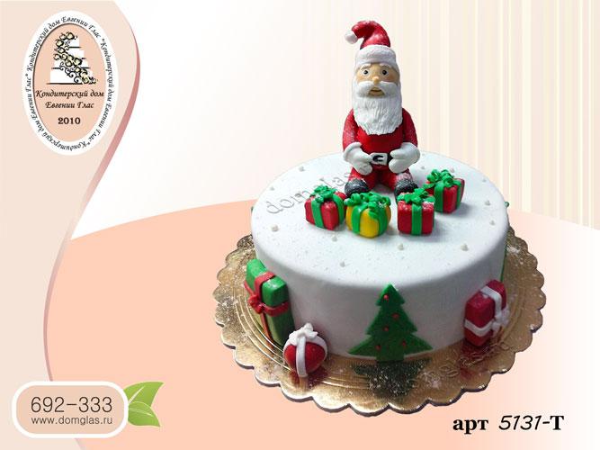 т торт новогодний дед мороз игрушки
