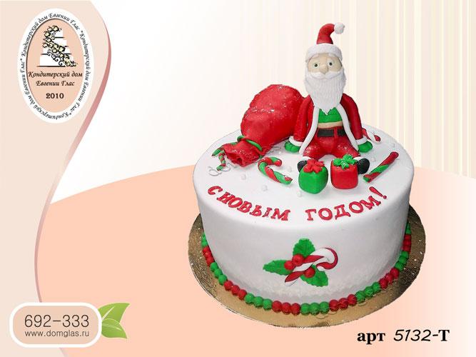 т торт новогодний дед мороз мешок подарки
