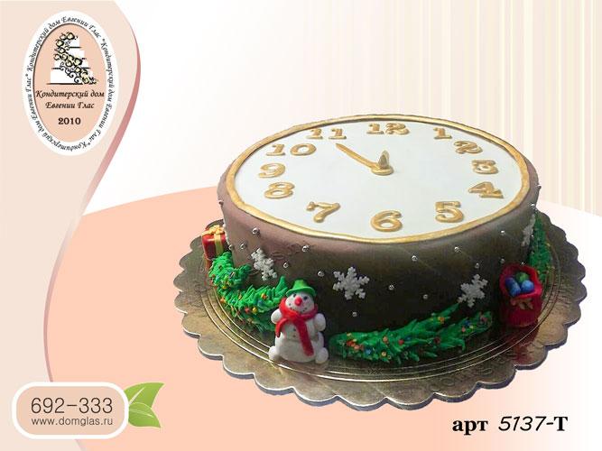 т торт новогодние часы