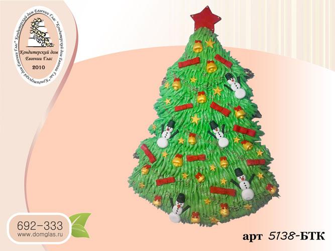 тбк торт новогодняя елка с игрушками и  звездой