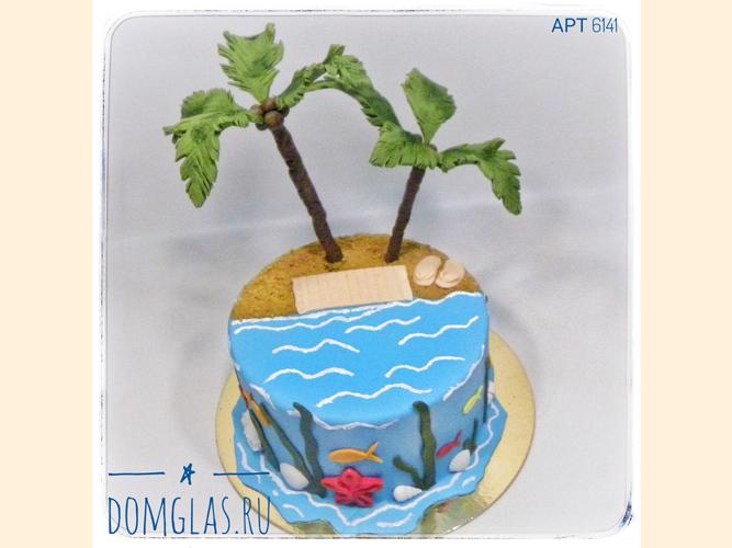 тематический остров с пальмами