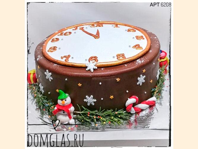 тематический новогодний часы и снеговики