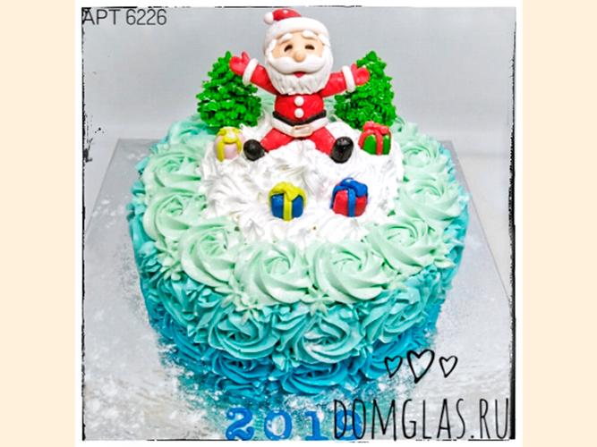 тематический Дед Мороз с подарками на торте