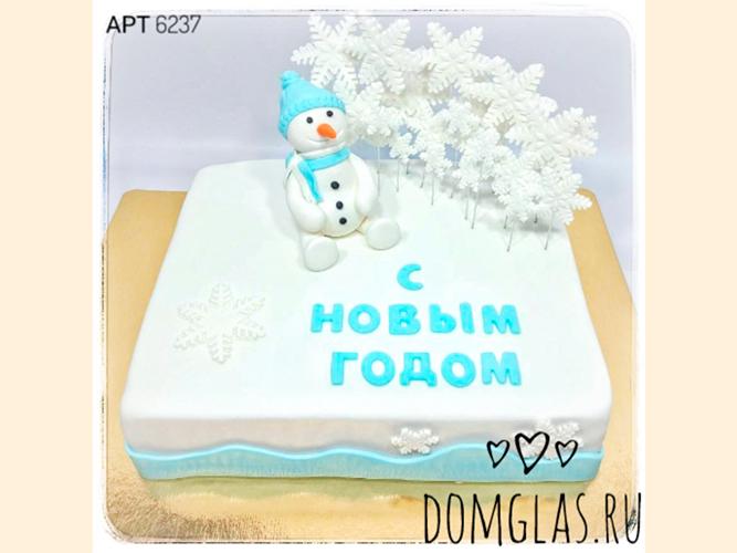 тематический прямоугольный снеговик и снежинки