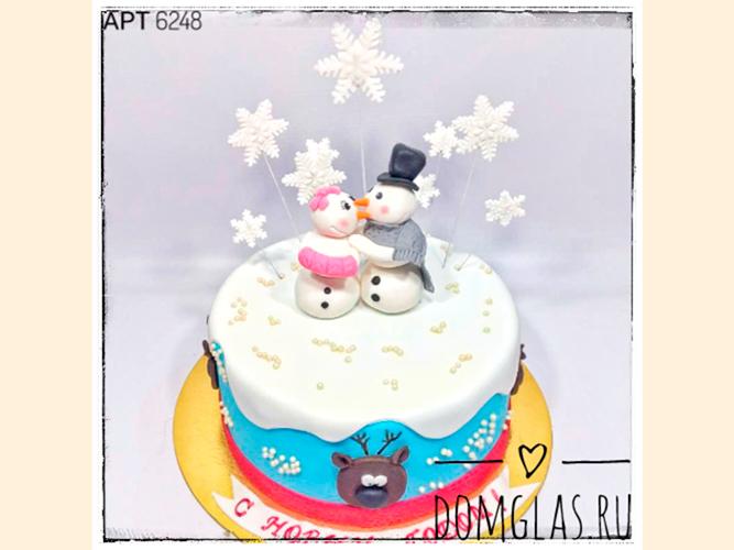 тематический новогодний со снеговиками и снежинкам