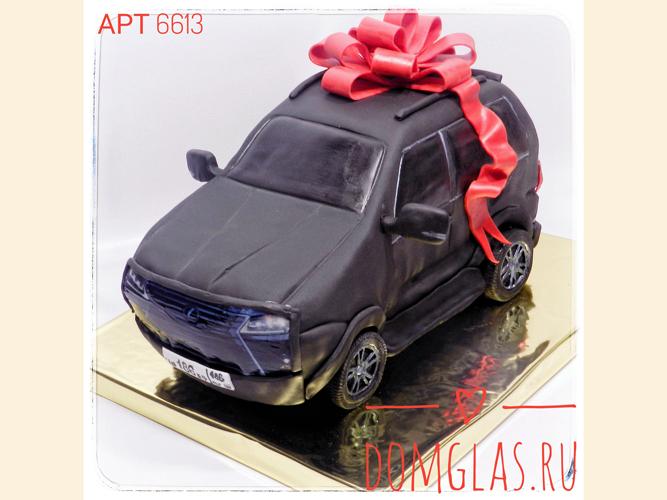 тематический автомобиль с бантом 3D