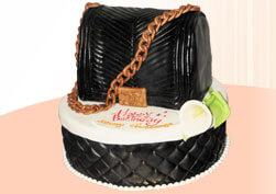 Торт женская кожаная сумочка.
