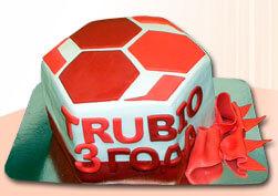 фирменный корпоративный торт trubio