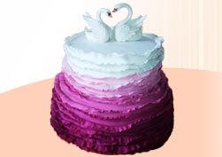 Белые лебеди. Свадебный торт.